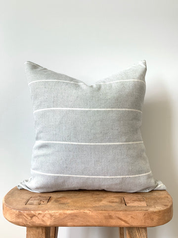 Gray Linen Pillow Cover