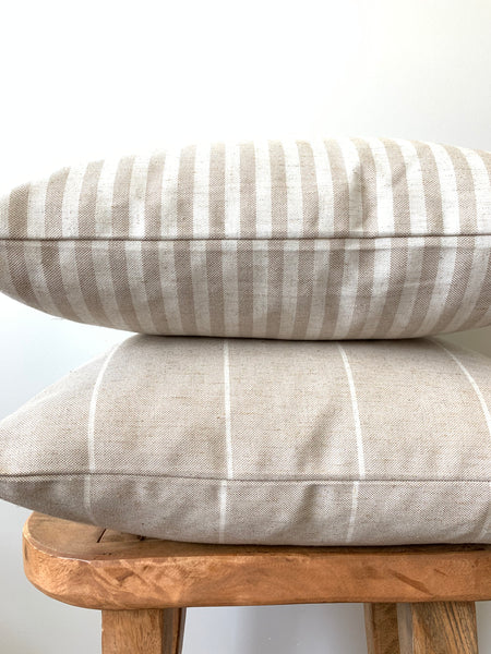 Tan Linen Pillow Cover