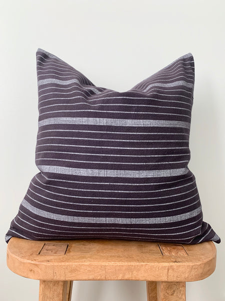 Black Stripe Pillow Cover