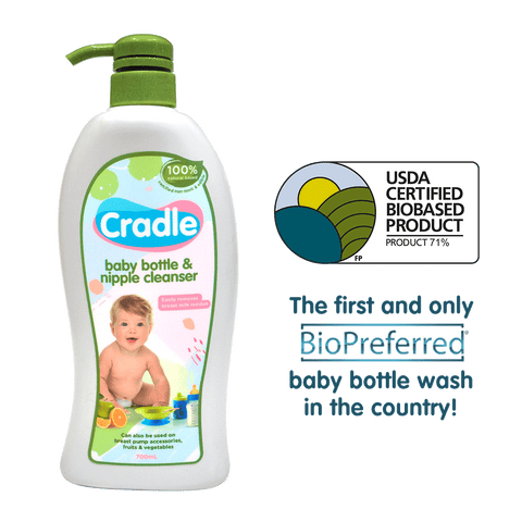 Cradle Baby Bottle Wash and Nipple Cleanser