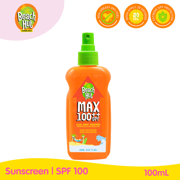 Beach Hut MAX SPF100++ Sunblock Spray