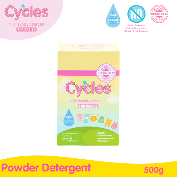 Cycles Mild Laundry Powder Baby Detergent 500g