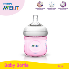 Philips Avent Natural 4oz Bottle Single - Pink