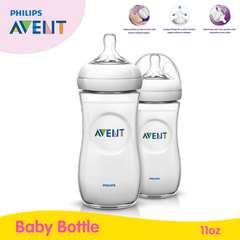 Philips Avent Natural 11Oz Bottle Twin Pack