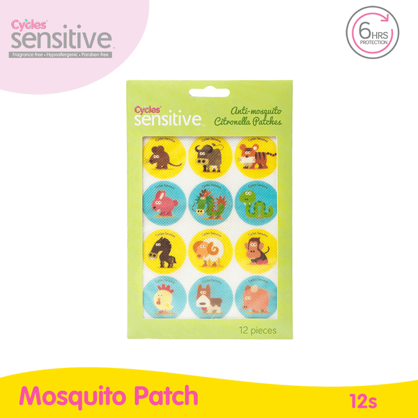 Cycles Sensitive Anti Mosquito Patches 12s