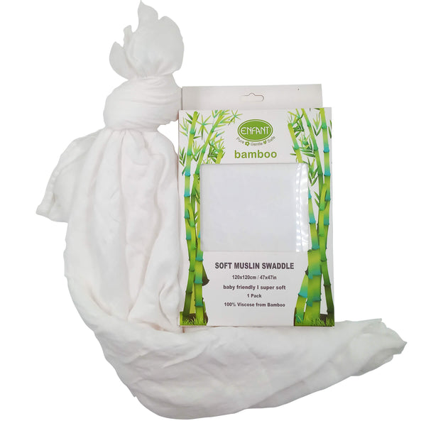 Enfant Bamboo Swaddle White