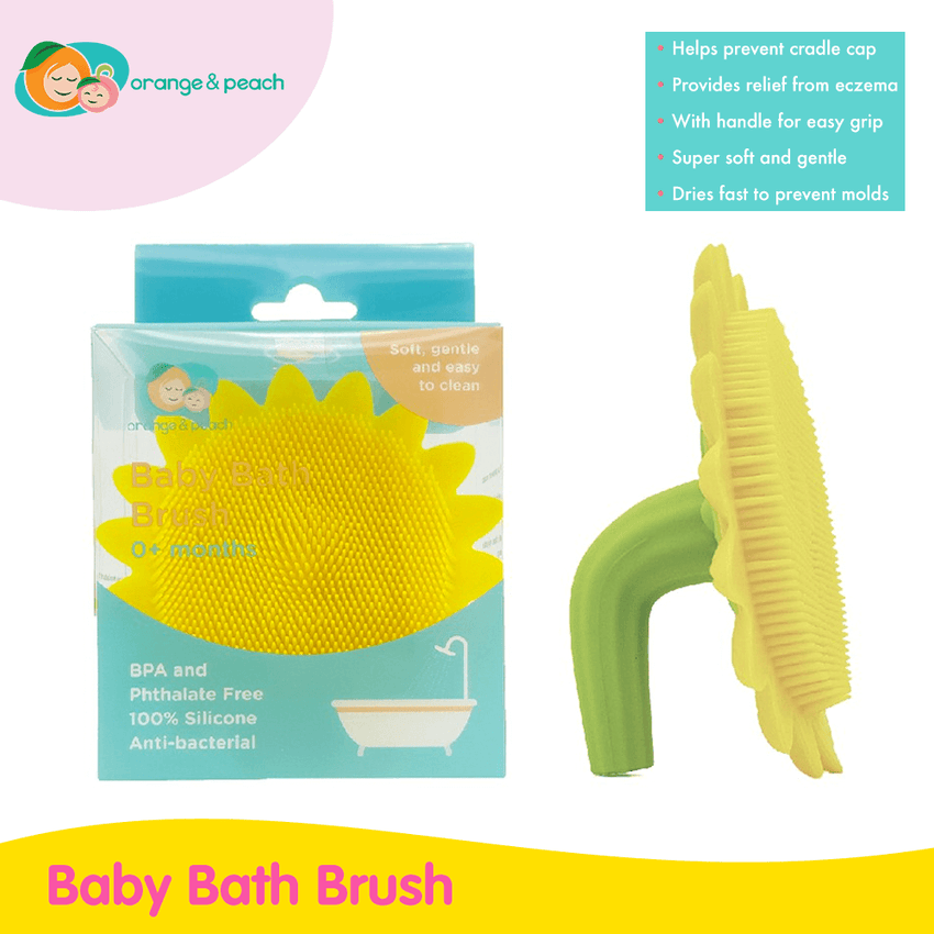 Orange & Peach Baby Bath Brush