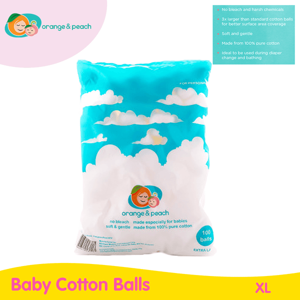 Orange & Peach XL Baby Cotton Balls