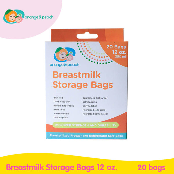 Orange & Peach Breastmilk Storage Bags 12oz