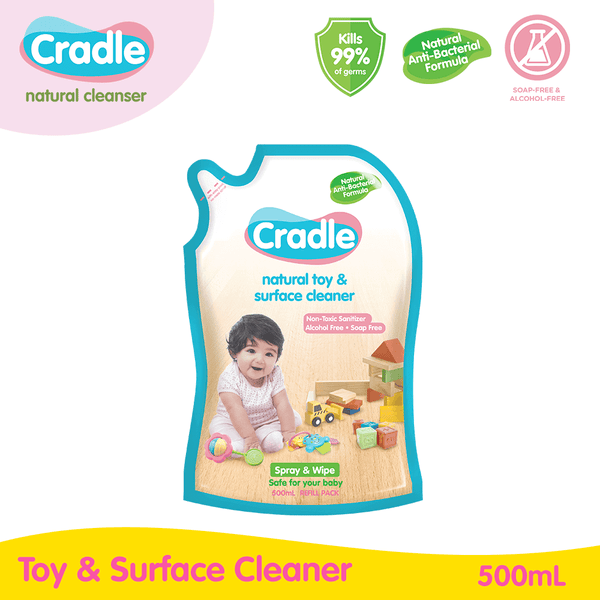 Cradle Natural Toy & Surface Cleaner 500ml Refill Pack