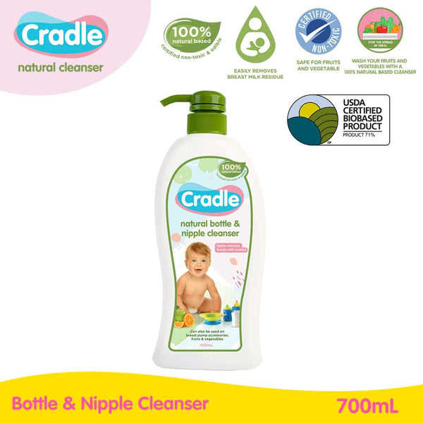 Cradle Natural Bottle & Nipple Cleanser 700ml