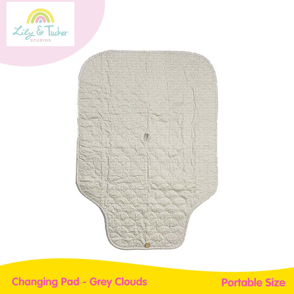Lily and Tucker Changing Pad - Grey Clouds