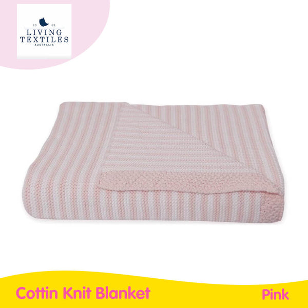 Living Textiles Cotton Knit Blanket