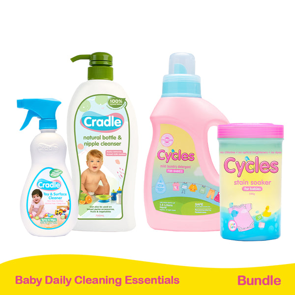 Cycles and Cradle Daily Cleaning Essentials