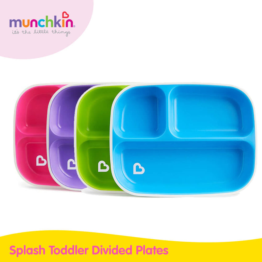 Munchkin Splash Toddler Divided Plates