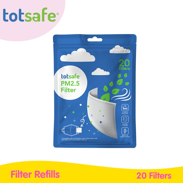 Totsafe Lifestyle Mask for Kids - Filter Refills 20s