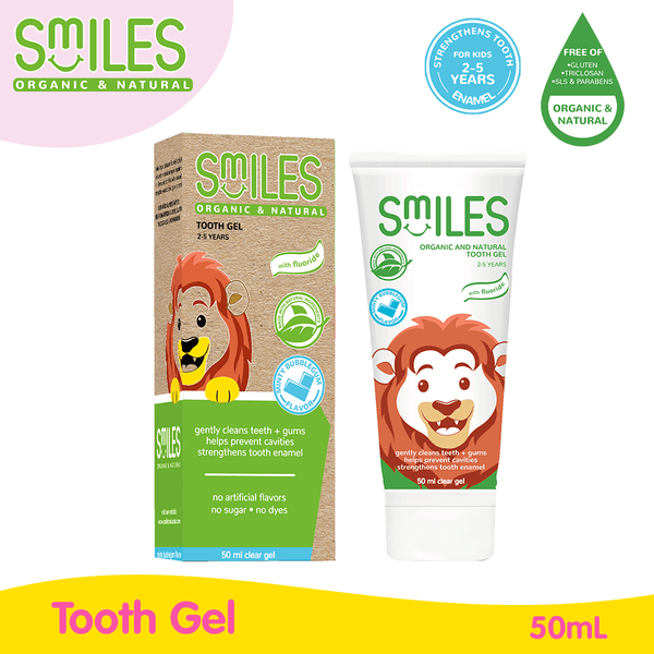 Smiles Organic and Natural Tooth Gel (Bubblegum) 50ml