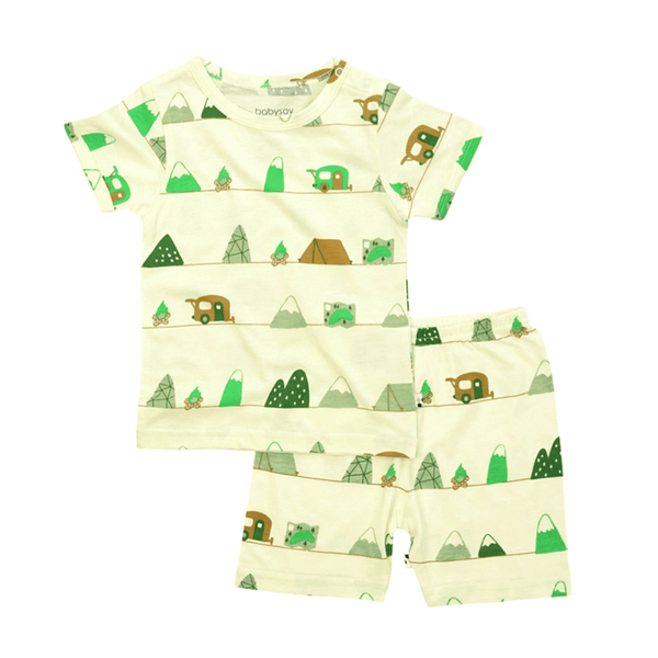 Babysoy S/S Lounge Set Shorts - Mountain