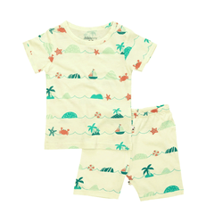 Babysoy S/S Lounge Set Shorts - Sea