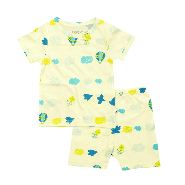 Babysoy S/S Lounge Set Shorts - Sky