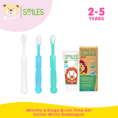 Mimiflo 3-Stage Brush Time Set w/ Smiles Minty Bubblegum (2-5 years old)