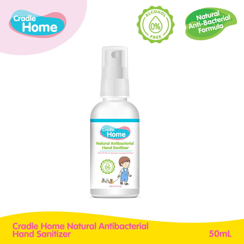 Cradle Home Natural Antibacterial Hand Sanitizer (50mL)