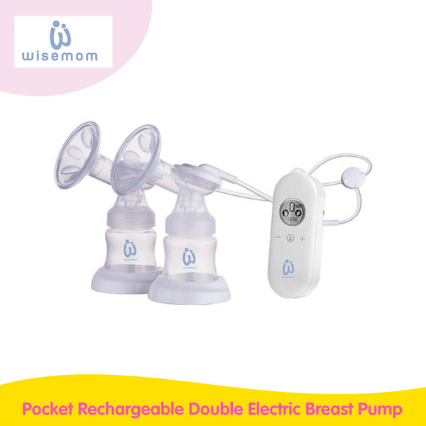 Wisemom Pocket Rechargeable Double Electric Breast Pump