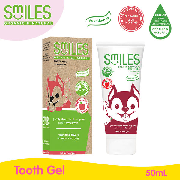 Smiles Organic and Natural Tooth Gel (Apple) 50ml