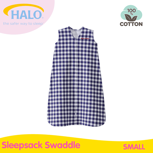 Halo SS Navy Checkered - Small