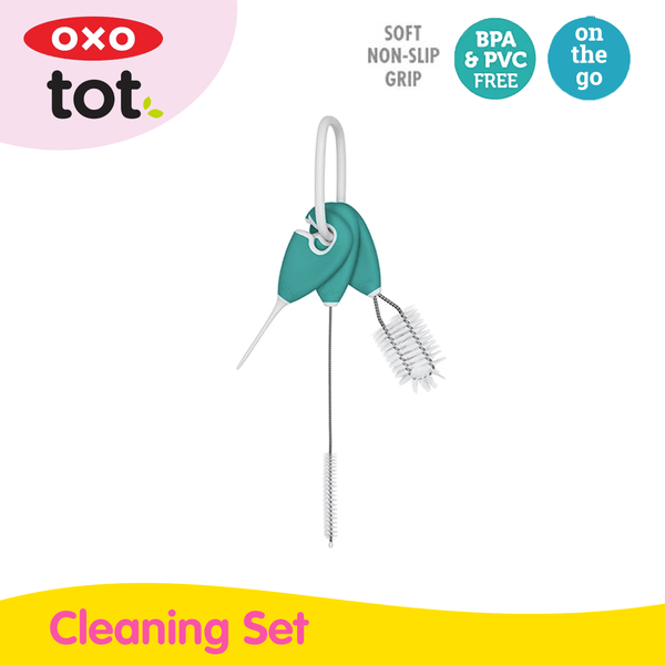 Oxo Tot Straw & Sippy Cup Top Cleaning Set - Teal