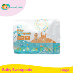 Orange & Peach Baby Swimpants