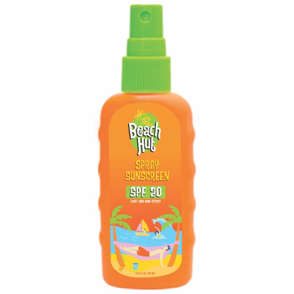 Beach Hut SPF20 Clear Spray Sunscreen 75ml