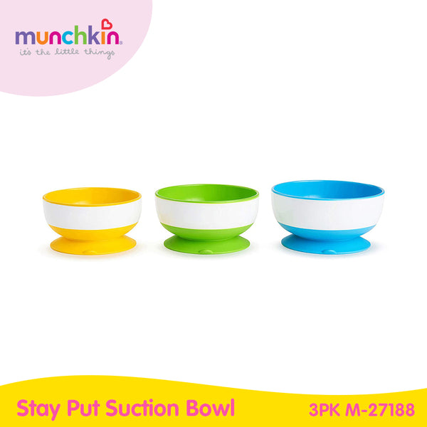 Munchkin Stay Put Suction Bowl 3PK