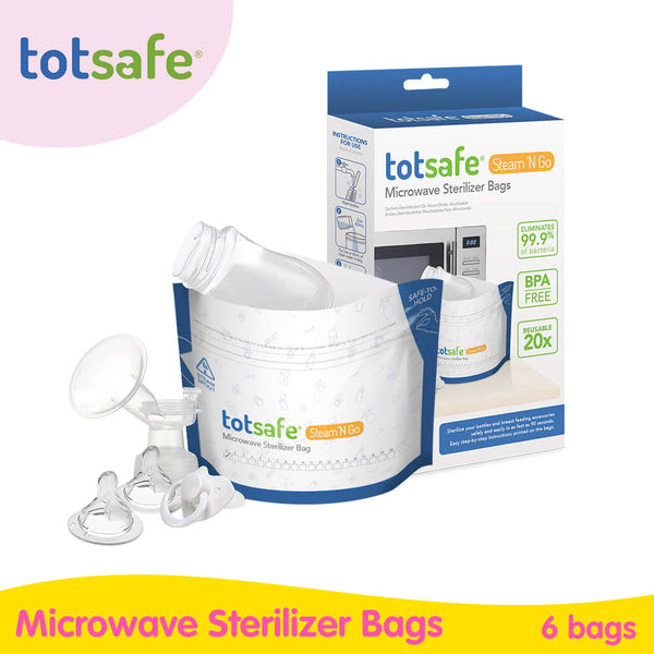 Totsafe Steam N Go Microwavable Sterilizer Bags (6 bags per box)