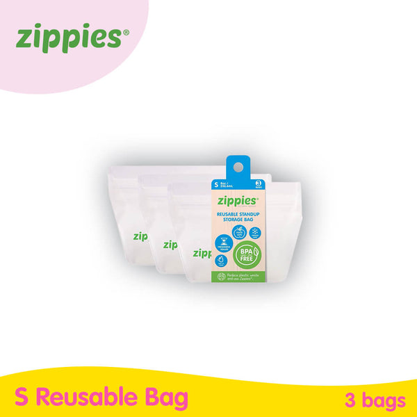 Zippies Reusable Stand-up Pouch (3s)