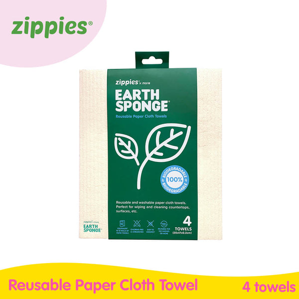 ZippiesxMore Reusable Earth Cloth Towels (4s per pack)