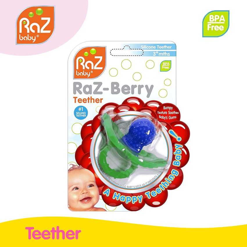 RaZBaby RaZ-Berry Blue Teether