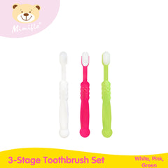 Mimiflo Baby 3-Stage Toothbrush Set
