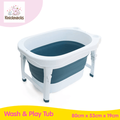 Knicknacks Collapsible Wash & Play Tub