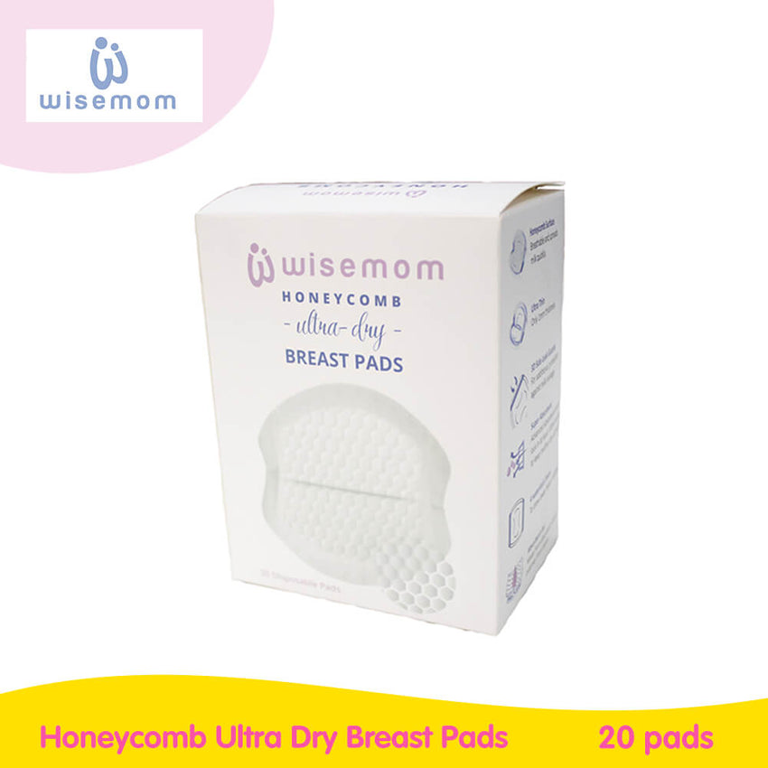 Wisemom Honeycomb Ultra Dry Breast Pads - Box of 30