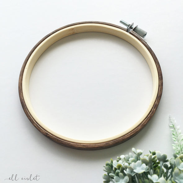 13.5cm / 5.3 Inch English Walnut Stained Wood Embroidery Hoop