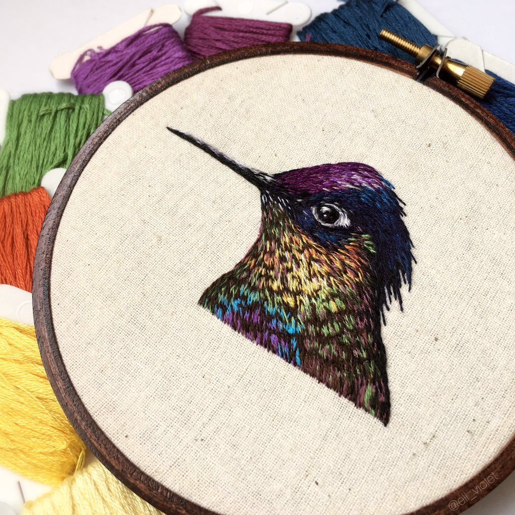 Violet-Crowned Woodnymph Hummingbird