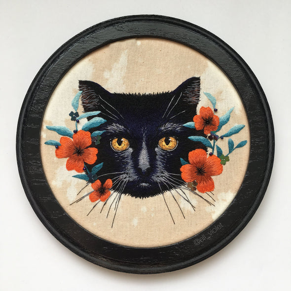 Black Cat - Original Embroidery