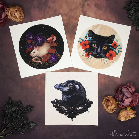 Familiars Postcard Set