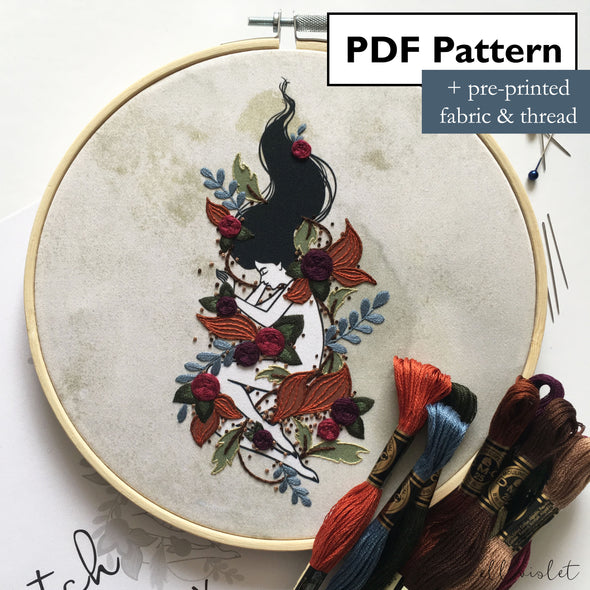 Autumn Dreaming Hand Embroidery Mini Kit