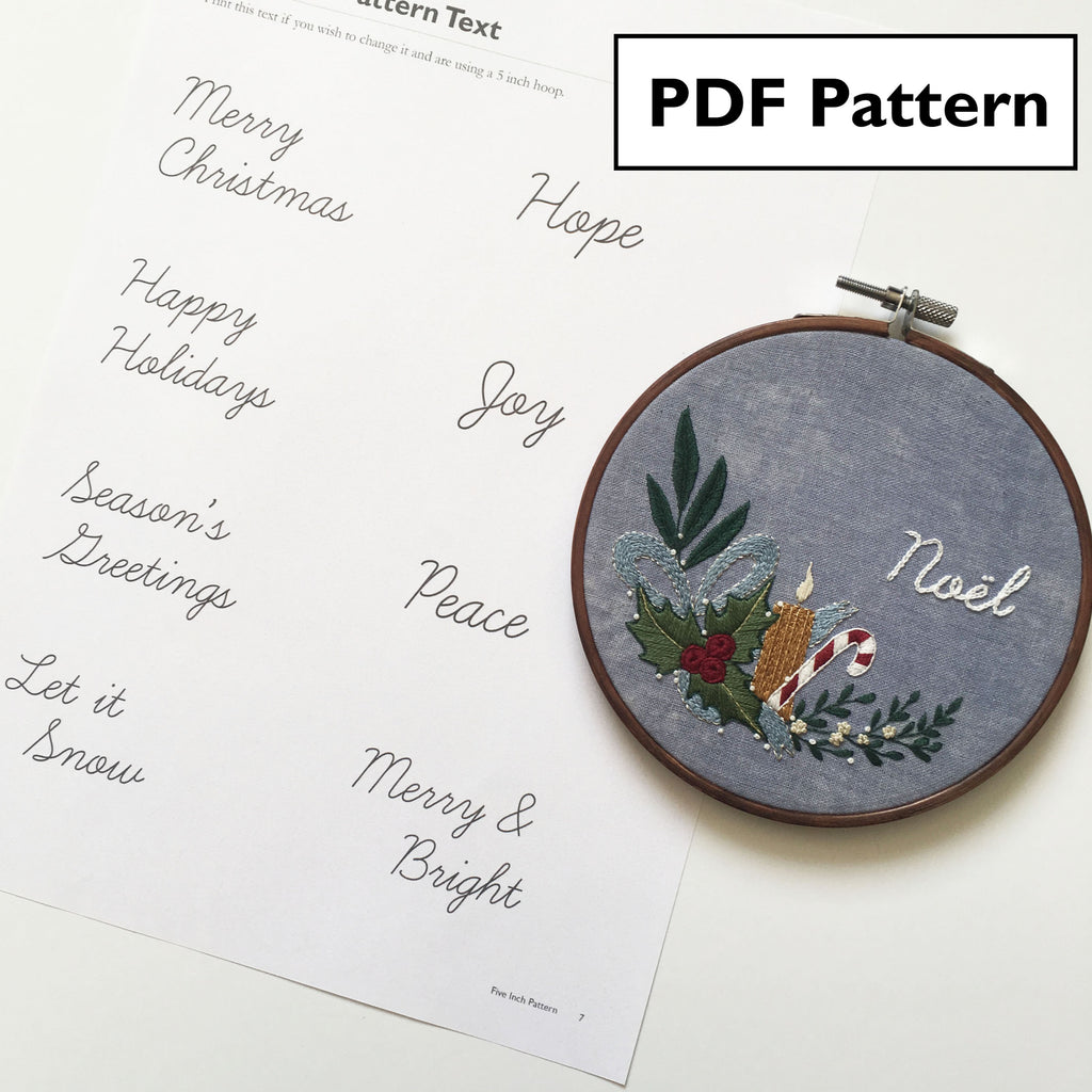 Christmas Decor Pattern - Digital Download