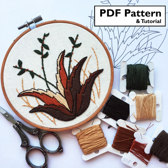 Desert Plant Pattern + Tutorial - Digital Download