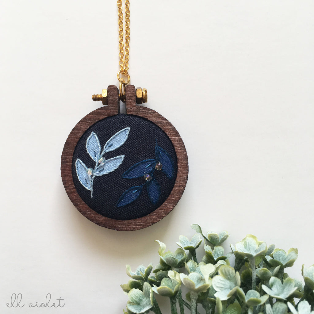 Double Blue Sprig Necklace (Pre-Order)