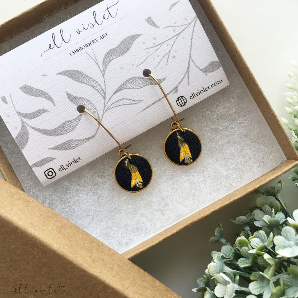 Kowhai Flower Dangle Earrings