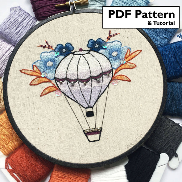Botanical Balloon Pattern + Tutorial - Digital Download